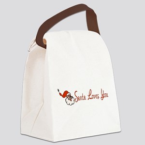 santalove01 Canvas Lunch Bag